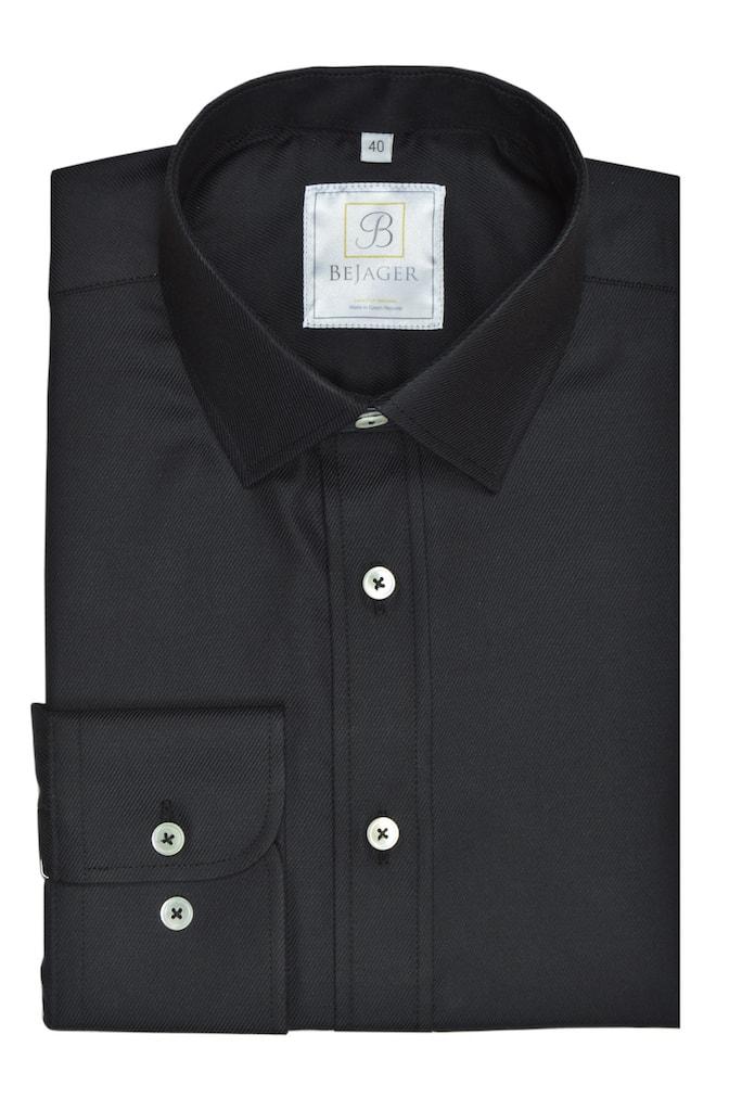 Luxusní černá košile Paul ze 100% bavlny  73011d6c22